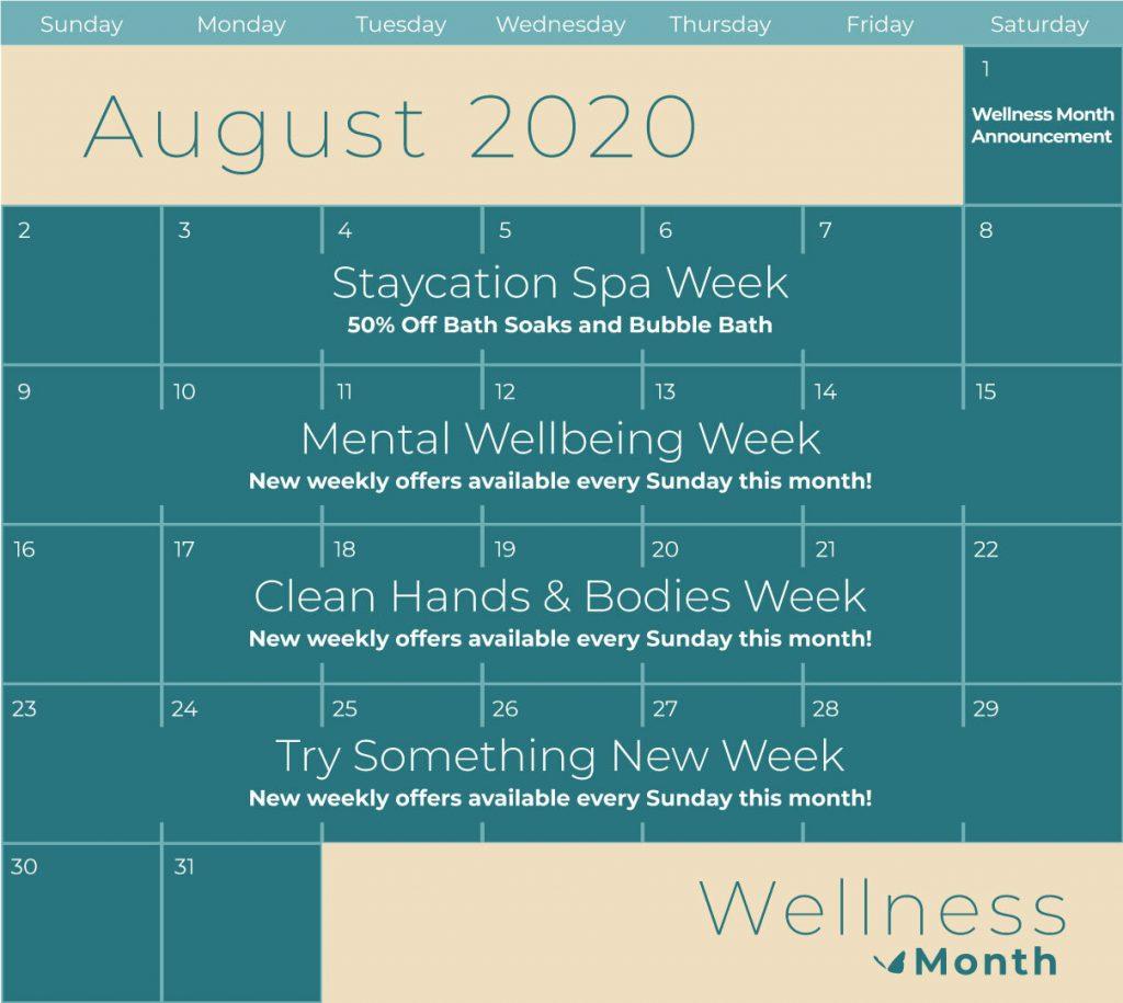 Enfusia Wellness Month Calendar