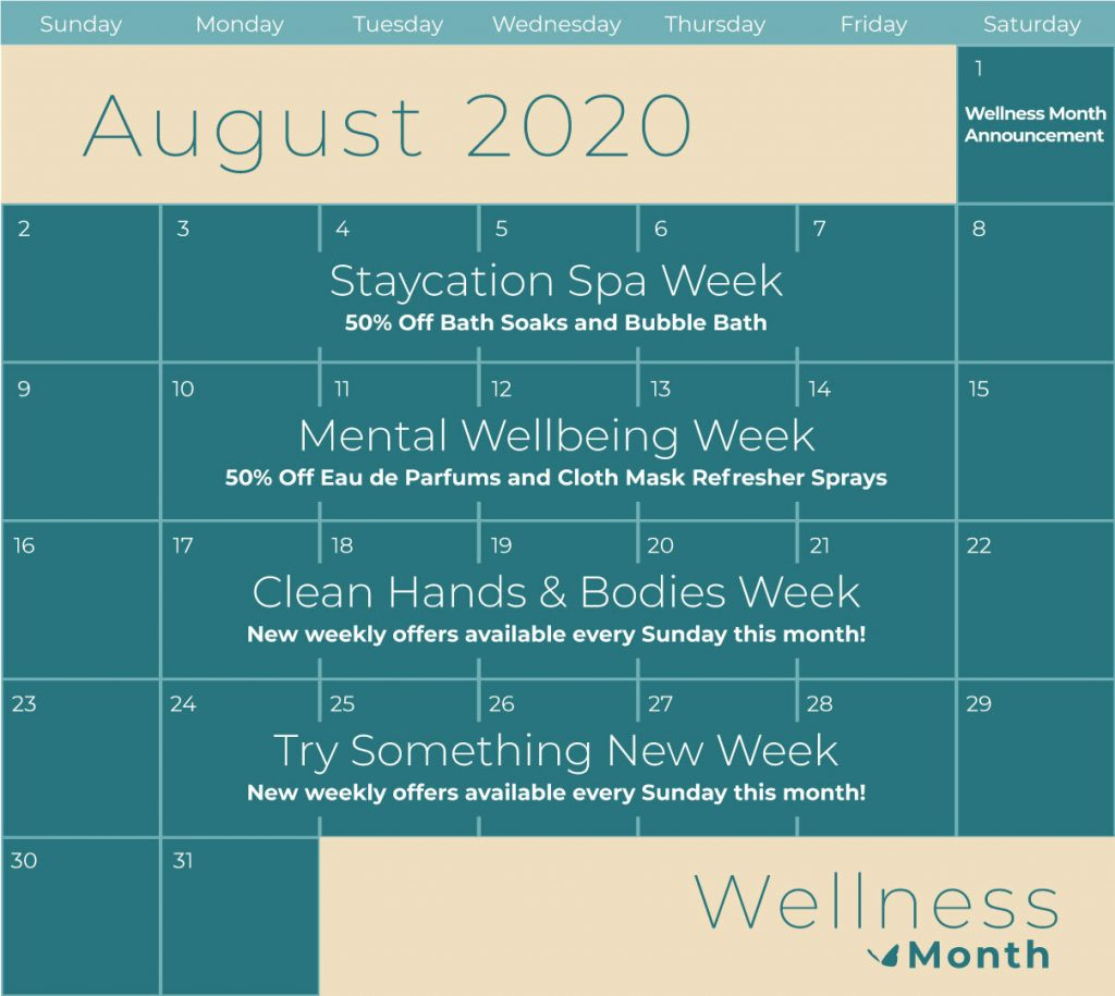 Enfusia Wellness Month Calendar Mental Well-Being Week