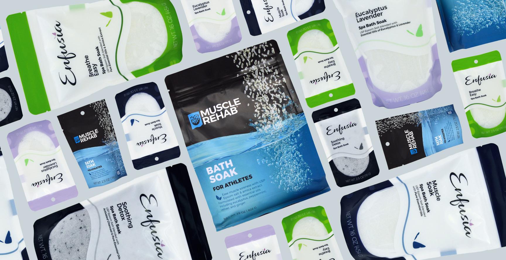 Enfusia Epsom salt bath soaks